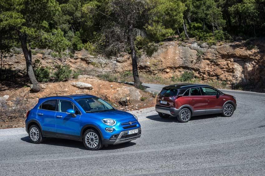 Fiat 500X - Opel Crossland X